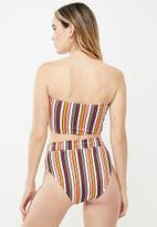 Cotton On - Highwaisted banded cheeky bikini bottom - multi