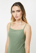 Cotton On - Refined strap tankini swim top  - green