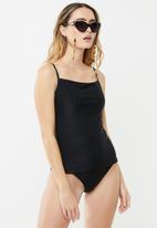 Cotton On - Refined strap tankini swim top  - black