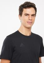 adidas Performance - Tan logo tee - black