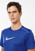 Nike - Dri-fit miler short sleeve flash top - blue