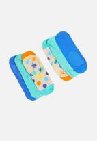 Happy Socks - 3 Pack big dot liner sock - multi