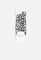 Happy Socks - Leopard print socks -black & white
