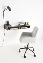 Emerging Creatives - Stockholm floating work desk with add-ons - black