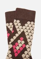 Happy Socks - Snake socks - brown & pink