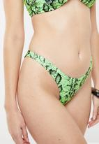 STYLE REPUBLIC - Snake bikini set - green & black