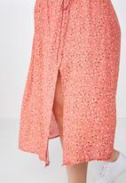Cotton On - Curve ella midi skirt  - multi