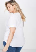 Cotton On - Curve karly short sleeve tee  - white