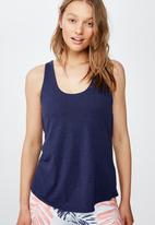 Cotton On - Strappy 2 in 1 tank top - navy & white