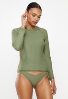 Cotton On - Callie long sleeve swim top  - green