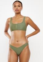 Cotton On - High side brazilian bikini bottom - green