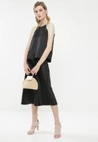 Superbalist - Midi slip skirt - black