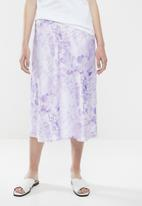 Superbalist - Tie dye midi skirt - purple & white