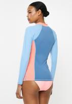 Lizzy - Ivanka long sleeve rashie - blue & pink
