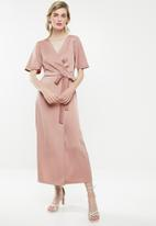 Superbalist - Wrap over kimono dress - pink
