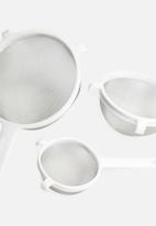 Excellent Housewares - Strainer set of 3 - white