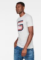 G-Star RAW - Graphic 6 slim short sleeve tee - grey