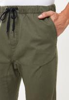 Cotton On - Drake cuffed pants - khaki