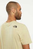 The North Face - Fine short sleeve tee - khaki