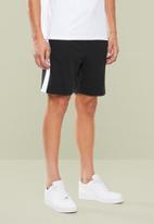 Superbalist - 1up side stripe sweat shorts - black