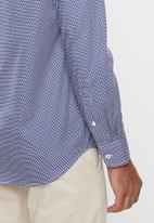 POLO - Justin geometric print signature long sleeve shirt - multi