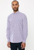 POLO - Cole check dobby signature long sleeve shirt - multi