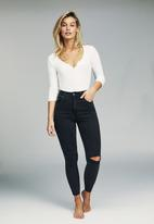 Cotton On - High rise grazer skinny jean  - black