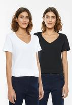 edit - 2 pack V-neck tees - black & white