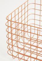 Sixth Floor - Finch wire basket - rust