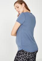 Cotton On - Maternity gym T-shirt - blue