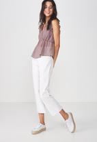 Cotton On - Cindy blouse - purple & black