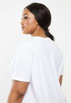 Superbalist - Placement print tee - white