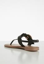 edit - Rhea T-bar sandal - black