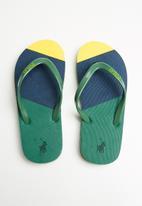POLO - Boys luke world cup flip flops - green
