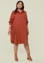 Superbalist - Soft shirt dress - rust