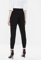 Vero Moda - Eva loose string pants - black
