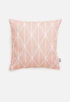 Sixth Floor - Dot diamond cushion cover - pink