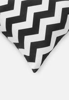 Sixth Floor - Chevron cushion cover - asphalt