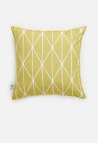 Sixth Floor - Dot diamond cushion cover - yellow