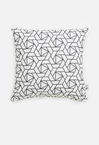 Sixth Floor - Origami cushion cover - black