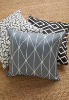 Sixth Floor - Dot diamond cushion cover - grey