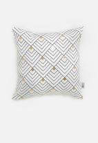 Sixth Floor - Mini chevron cushion cover - black & white