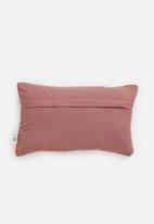 Sixth Floor - Jada velvet cushion cover - rose