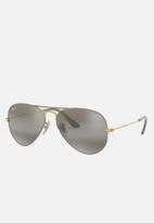 Ray-Ban - Avaitor large metal RB3025 9154AH 55 - gold & matte grey