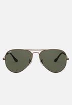 Ray-Ban - Metal aviator sunglasses - brown