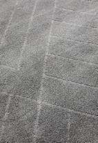 Sixth Floor - Chill rug - dark grey linear