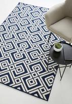 Sixth Floor - Marseille woven outdoor rug - navy