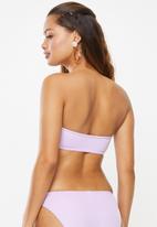 Superbalist - Bandeau bikini top - purple