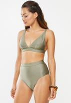 Superbalist - High waist bikini bottom - khaki