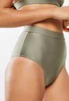Superbalist - High waist bikini bottom - khaki